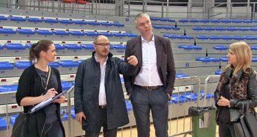 Pripreme hale Čair za prijem najboljih košarkašica Evrope 2019. godine (VIDEO)