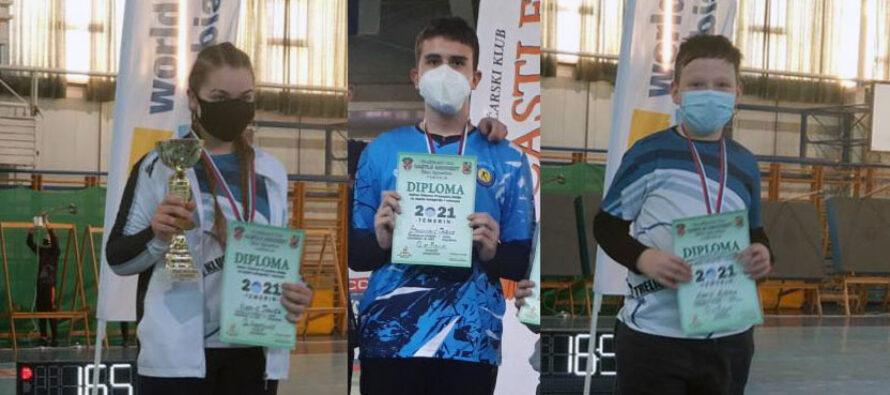 Danica, Darko i Aleksa prvaci države u streličarstvu
